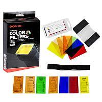 Набор цветных гелевых фильтров Godox CF-07 для вспышек , фото 1