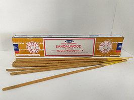 Натуральные  благовония Сандаловое дерево, Sandalwood, Satya, 15 гр