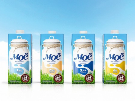 Молоко «Моё» 3,2% 1 л