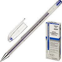 """Ручка гелевая CROWN """"Hi-Jell"""", корпус прозрачный, узел 0,5 мм, линия 0,35 мм, СИНЯЯ, HJR-500"""