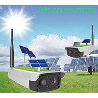 Беспроводная уличная ip wi-fi камера на солнечной батарее, фото 1