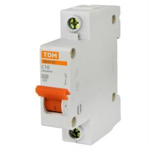 Автоматический выключатель реечный TDM ВА47-63 1P 40А, 230/400 В, Кол-во полюсов: 1, Предел отключения: 4,5 кА