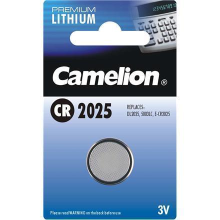 Батарейка Camelion CR2025-BP1 3 В, Упакова: Блистер 1 шт., Аналоги: CR2025\5003LC, Тип батареи: Литий-ионный