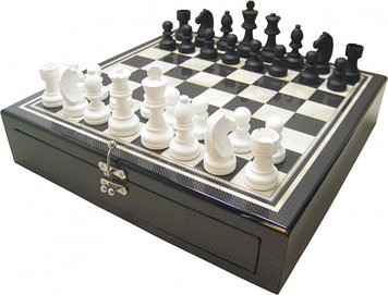 Шахматы ARMS D-9313, Корпус: Дерево, Покрытие: Глянцевый лак, Высота фигур: От 4 до 7,5 см, Цвет: Чёрно-белый