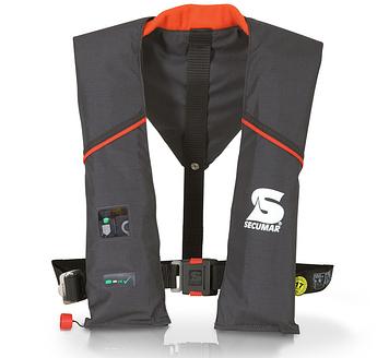 Спасательный жилет Secumar Ultra ax plus auto harness, Более 50 кг, Класс: EN396, Плавучесть: 150N, Цвет: Черн