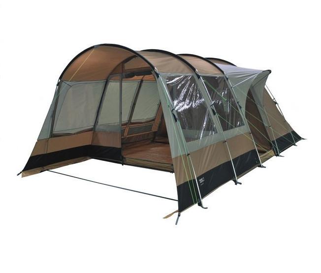 Палатка кемпинговая High Peak Mikumi 5, Кол-во человек: 5, Входов/комнат: 2, Тамбуров: 1, Внутренняя палатка: