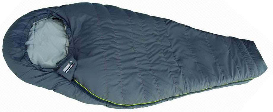 Спальный мешок трекинговый, кемпинговый High Peak SYNERGY 1100S, Форм-фактор: Кокон, Мест: 1, t°(комфорта): +8