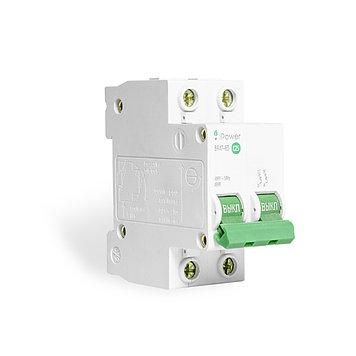 Автоматический выключатель реечный iPower ВА47-63 2P 10А, 230/400 В, Кол-во полюсов: 2, Предел отключения: 4,5