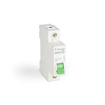Автоматический выключатель реечный iPower ВА47-63 1P 16А, 230/400 В, Кол-во полюсов: 1, Предел отключения: 4,5
