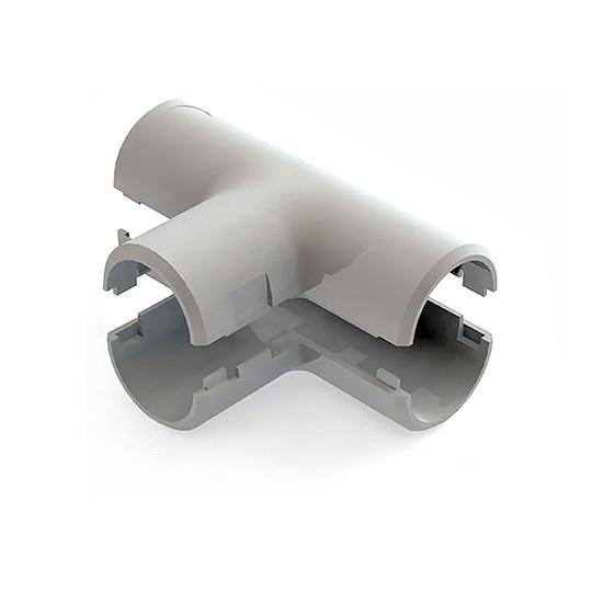 Тройник соединительный для трубы Рувинил Т01232, Диаметр: 32 мм, Полистирол, Цвет: Серый