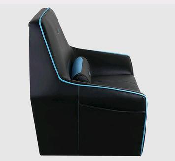 Диван геймерский AeroCool P7-CH2 AIR, Нагрузка (max): 150 кг, Карманы, Подлокотники, Вентиляция, Цвет: Чёрно-с