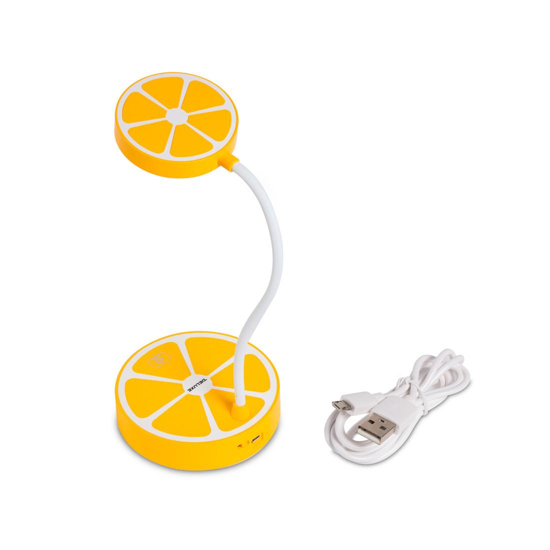 Лампа настольная светодиодная (LED) Deluxe Paradisi-Y, Регулировка яркости: 3 степени яркости, Цветовая темпер