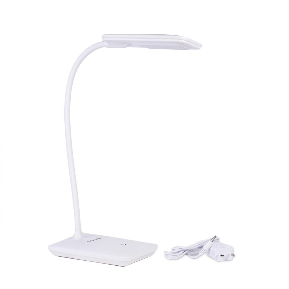Лампа настольная светодиодная (LED) Deluxe DLTL-102W-6W, Регулировка яркости: 3 степени яркости, Цветовая темп