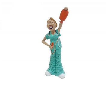 Статуэтка декоративная Forchino Медсестра, Высота: 246 мм, Материал: Полистоун, Цвет: Бирюзово-белый, (FC30219