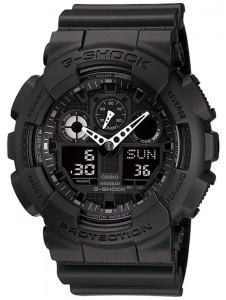Часы электронные наручные мужские Casio G-SHOCK GA-100-1A1DR, Механизм: Кварц, Браслет: Ремешок из полимерного