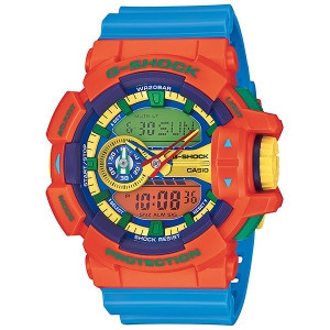 Часы электронные наручные мужские Casio G-SHOCK GA-400-4AER, Механизм: Кварц, Браслет: Ремешок из полимерного
