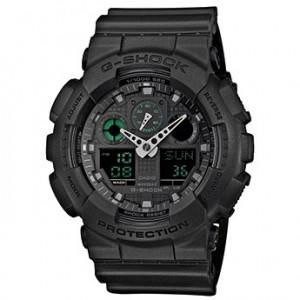 Часы электронные наручные мужские Casio G-SHOCK GA-100MB-1AER, Механизм: Кварц, Браслет: Ремешок из полимерног