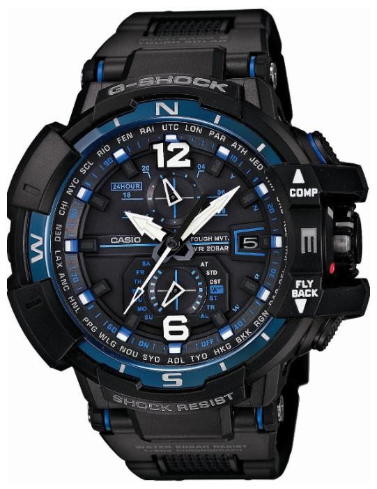 Часы электронные наручные мужские Casio G-SHOCK GW-A1100FC-1ADR, Механизм: Кварц, Браслет: Да. из резиновых зв