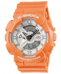 Часы электронные наручные мужские Casio G-SHOCK GA-110SG-4ADR, Механизм: Кварц, Браслет: Ремешок из полимерног