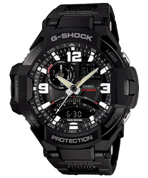 Часы электронные наручные мужские Casio G-SHOCK GA-1000FC-1ADR, Механизм: Кварц, Водонепроницаемость: Да, 20 Б