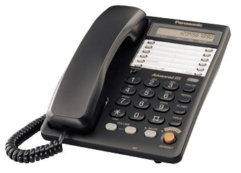 Телефон проводной стационарный Panasonic KX-TS2365 CAB, Цвет: Чёрный, Упаковка: Розничная