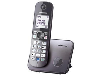 Радиотелефон DECT Panasonic KX-TG6811 CAM, 120 контактов, АОН: Есть, Ресурс: Время зарядки - до 7 ч; емкость -