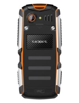 Телефон сотовый кнопочный Texet TM-513R, Класс защиты IPX: IP67, Кол-во слотов SIM: 2, Цвет: Чёрно-оранжевый