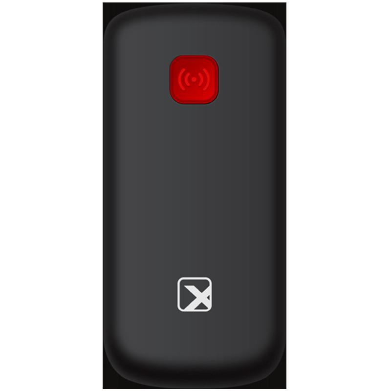 Телефон сотовый бабушкофон Texet TM-B220, Кол-во слотов SIM: 2, Цвет: Чёрно-красный