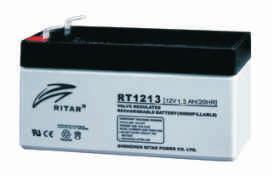 Батарея необслуживаемая (аккумулятор) Ritar RT1213 (12V 1,3 Ah), Емкость аккумулятора: 1,3 Ah, Разъемы: F1
