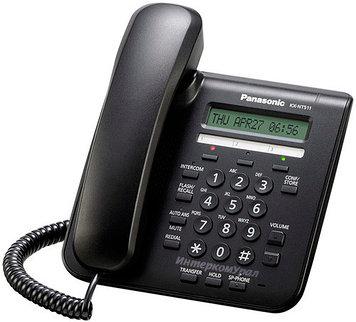 Системный телефон iP Panasonic KX-NT511P RUB, Цвет: Чёрный