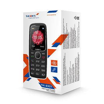 Телефон сотовый бабушкофон Texet TM-B307, Кол-во слотов SIM: 2, Цвет: Чёрный