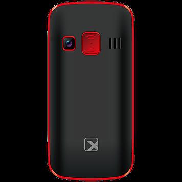 Телефон сотовый бабушкофон Texet TM-B217, Кол-во слотов SIM: 2, Цвет: Чёрно-красный