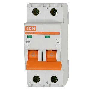 Автоматический выключатель реечный TDM ВА47-63 2P 16А, 230/400 В, Кол-во полюсов: 2, Предел отключения: 4,5 кА