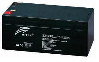 Батарея необслуживаемая (аккумулятор) Ritar RT1232 (12V 3,2 Ah), Емкость аккумулятора: 3,2 Ah, Разъемы: F1