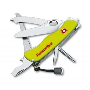 Нож складной солдатский Victorinox Rescue Tool, Кол-во функций: 18 в 1, Цвет: Жёлтый, (0.8623.MWN)
