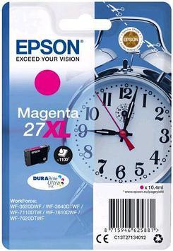 Картридж Epson C13T27134022 (№27XL), Объем: 10,4 мл, Копий ( ISO 19752): 1100, Цвет: Пурпурный, Совместимость: