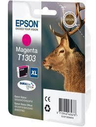 Картридж Epson C13T13034012 (№T1303XL), Объем: 10,1 мл, Копий ( ISO 19752): 600, Цвет: Пурпурный, Совместимост