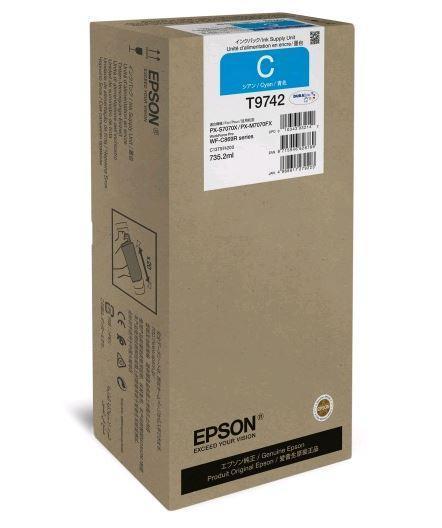 Картридж Epson C13T974200 (№T9742XXL), Объем: 735,2 мл, Копий ( ISO 19752): 84000, Цвет: Голубой, Совместимост
