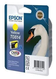 Картридж Epson C13T11144A10 (№T0814), Объем: 11,1 мл, Копий ( ISO 19752): 800, Цвет: Жёлтый, Совместимость: St