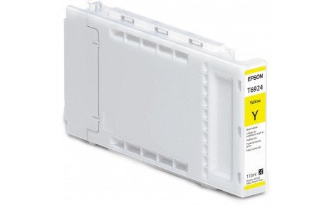 Картридж Epson C13T692400 (№T6924), Объем: 110 мл, Цвет: Жёлтый, Совместимость: SureColor SC-T3000, SC-T3200,