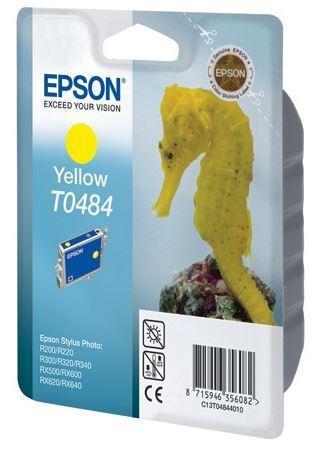 Картридж Epson C13T04844010 (№T0484), Объем: 13 мл, Копий ( ISO 19752): 430, Цвет: Жёлтый, Совместимость: Styl