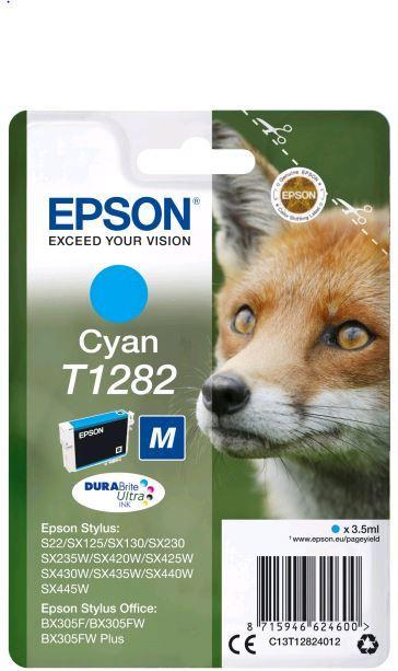 Картридж Epson C13T12824012 (№T1282M), Объем: 3,5 мл, Копий ( ISO 19752): 130, Цвет: Голубой, Совместимость: E