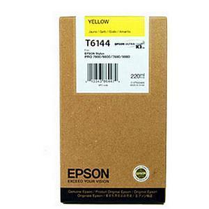Картридж Epson C13T614400 (№T6144), Объем: 220 мл, Цвет: Жёлтый, Совместимость: Stylus Pro 4400, 4450