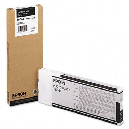 Картридж Epson C13T606100 (№T6061), Объем: 220 мл, Цвет: фото чёрный, Совместимость: Stylus Pro 4800, 4880