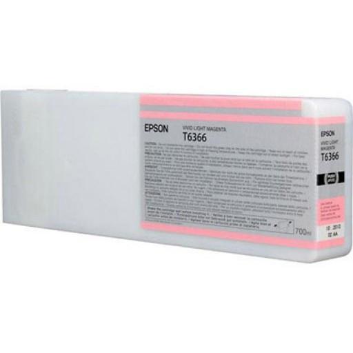 Картридж Epson C13T636600 (№T6366), Объем: 700 мл, Цвет: Светло-пурпурный, Совместимость: Stylus Pro 7700, 789