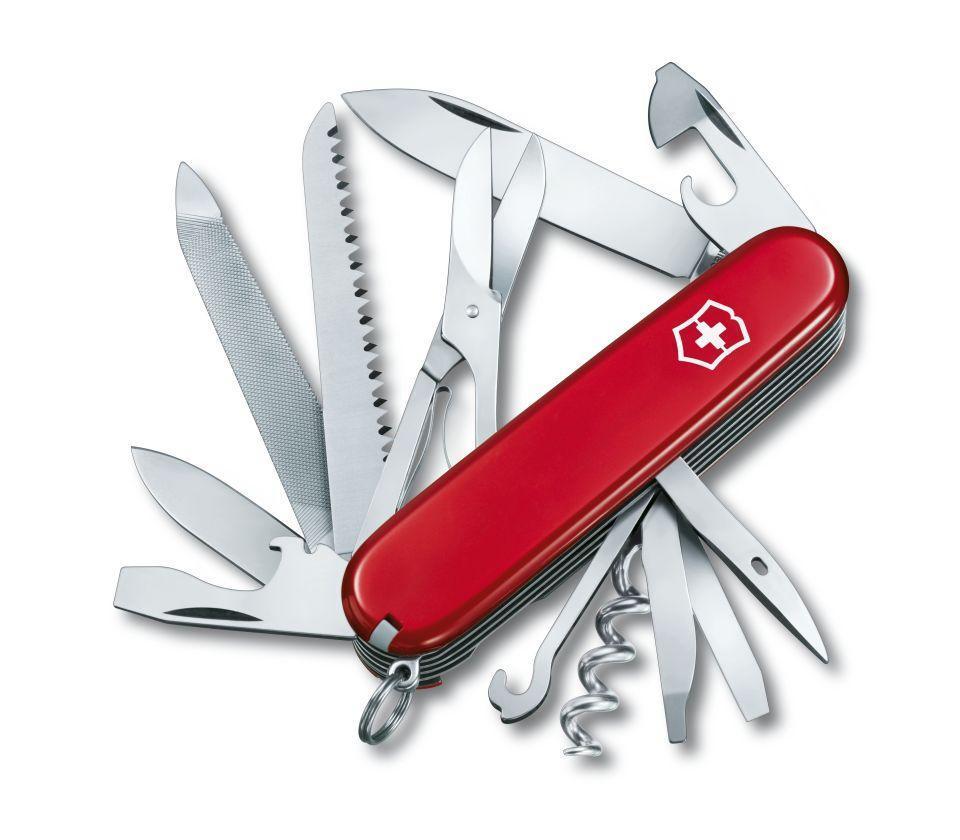 Нож складной офицерский Victorinox Ranger, Кол-во функций: 21 в 1, Цвет: Красный, (1.3763)