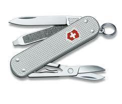 Нож складной карманный Victorinox Alox Classic, Кол-во функций: 5 в 1, Цвет: Серебристый, (0.6221.26 )