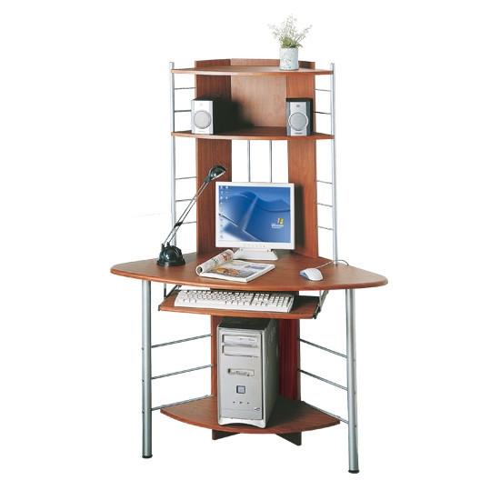 Стол компьютерный Deluxe Angel, Материал: МДФ, Цвет: Ореховый, (DLFT-1010B )