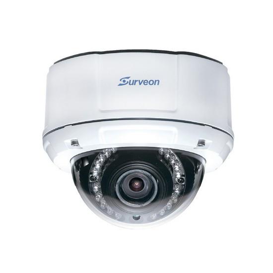 Камера IP купольная Surveon CAM4571M, Разрешение: 5 Мpi dpi, Тип объектива: автофокус f=4,5 - 9 мм, Цвет: Белы
