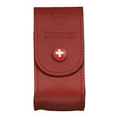 Чехол для ножа Victorinox POUCH 4.0521.1, Материал: Кожа, Крепление: На пояс, Застежка: Липучка, Цвет: Красный